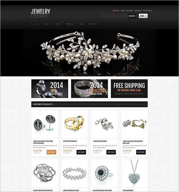 luxury jewelry oscommerce template