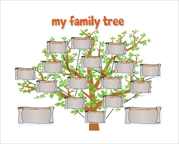 fanily tree template for kids free pdf format download