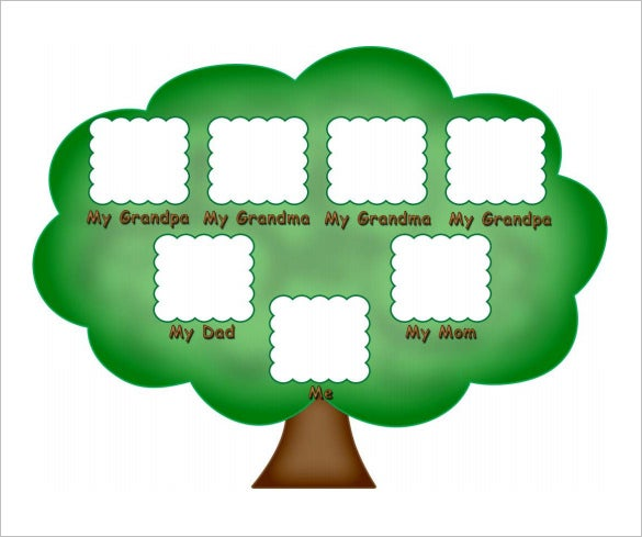 free family tree template for kids sample pdf download