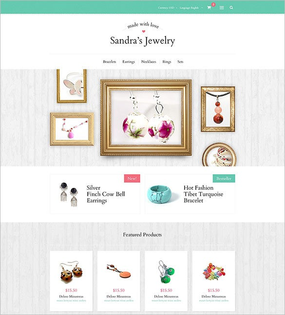 sandras jewelry oscommerce template