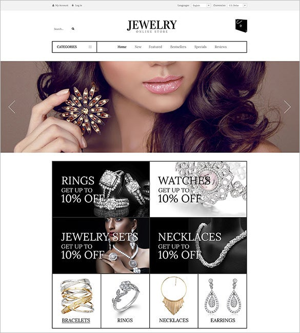 oscommerce template for luxury jewelry