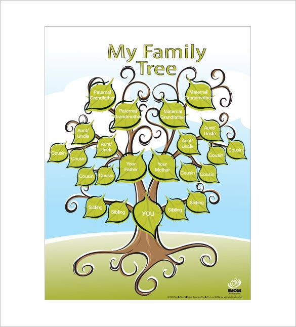 kids family tree free pdf template download