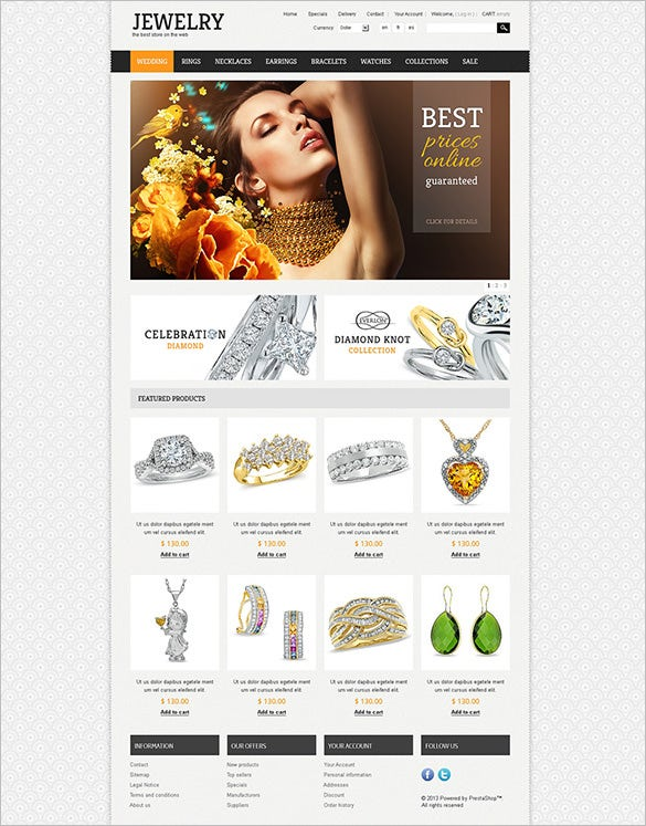 elegant jewelry oscommerce template