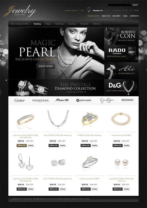 star jewelry oscommerce template