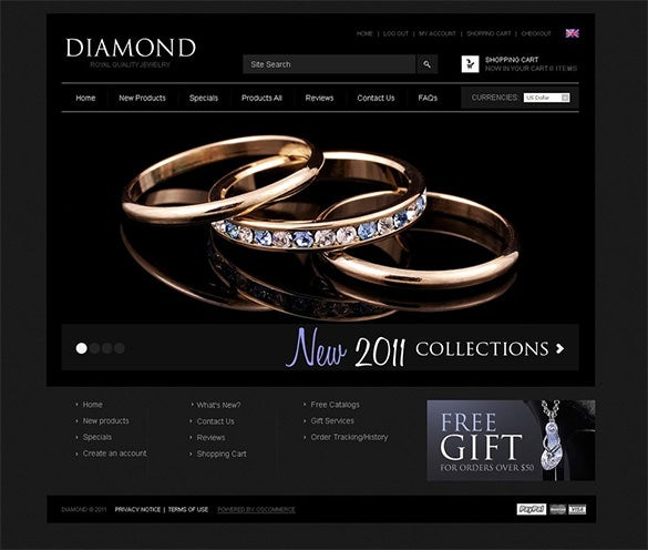 black diamond oscommerce template