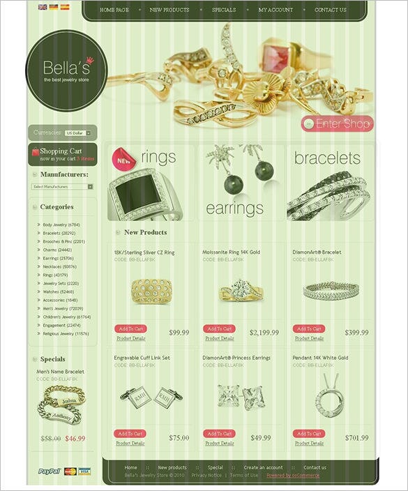 awesome jewelry oscommerce template