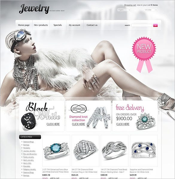 extraordinary jewelry oscommerce template