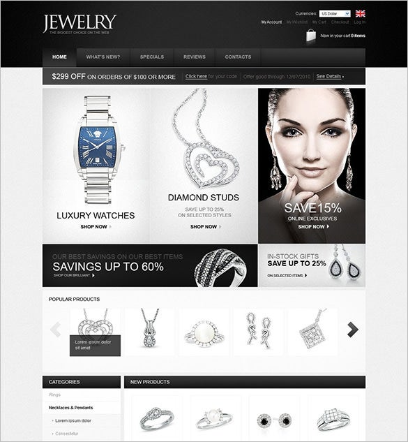 excellent jewelry oscommerce template