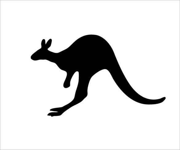 dark kangaroo template