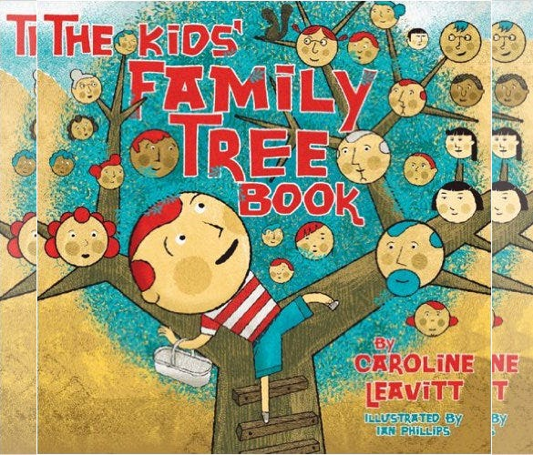 kids family tree book sample template