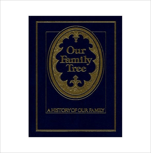 our family tree book example template download