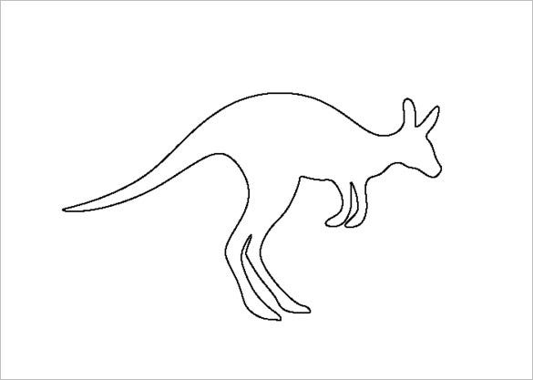 kangaroo pattern template