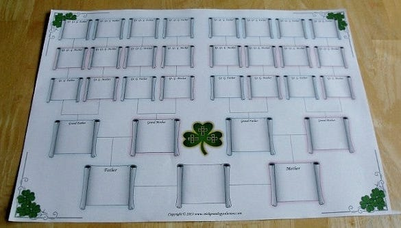 celtic blank family tree chart example template