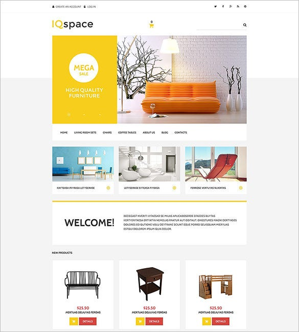 iqspace interior design virtuemart template