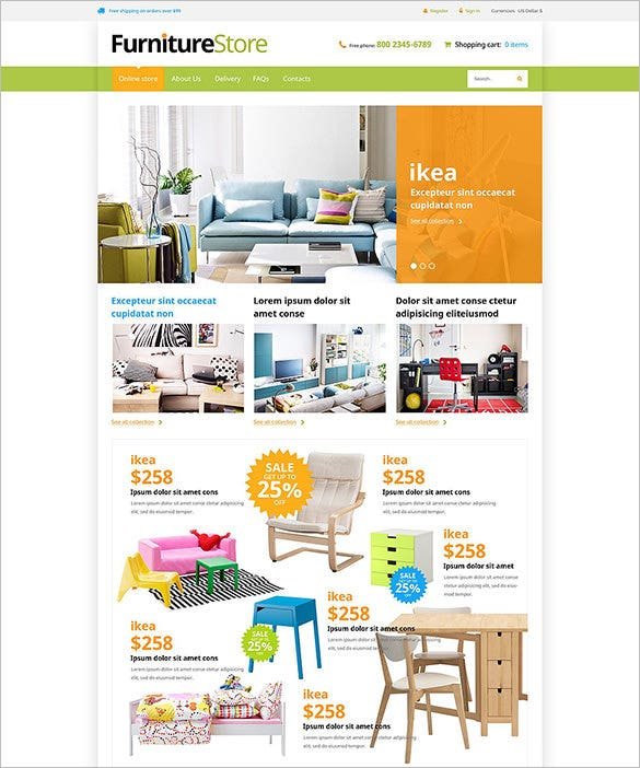 interior furniture virtuemart template