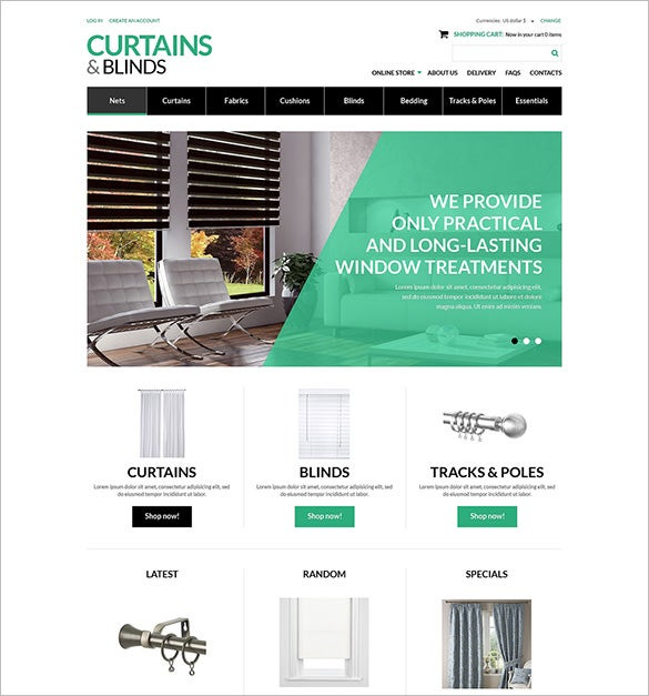 curtains blinds interior virtuemart template