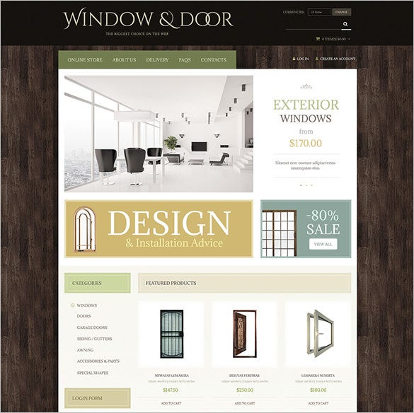 windows doors virtuemart template