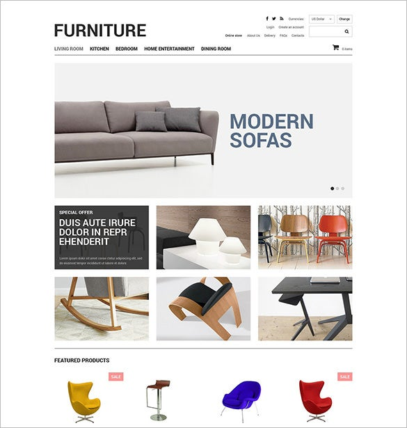 Furniture VirtueMart Interior Design Template. 12  Interior Design VirtueMart Themes   Templates   Free   Premium