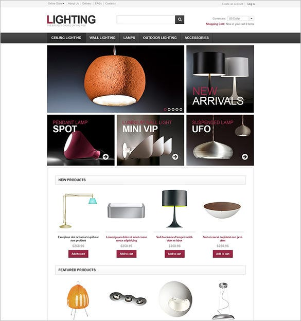 lighting for home virtuemart template