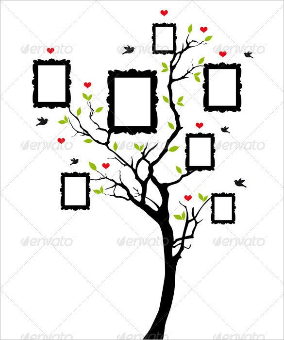 photo family tree template  u2013 9  free sample  example