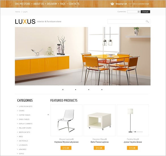 lux interior design virtuemart template