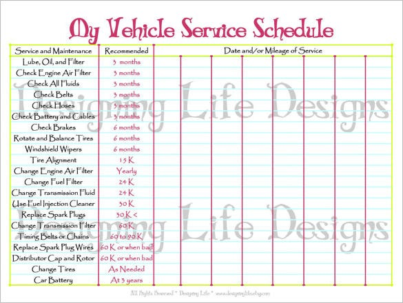 Maintenance Schedule Template - 10+ Free Sample, Example Format ...