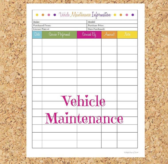 image relating to Car Maintenance Schedule Printable named Repair Plan Template - 20+ Totally free Pattern, Instance