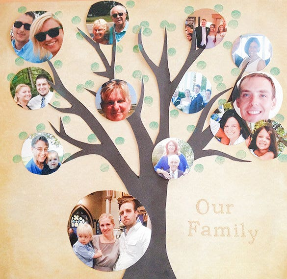 Photo Family Tree Template 9 Free Sample Example Format