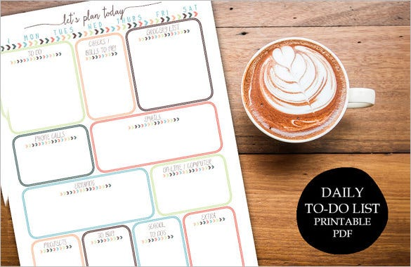 printable daily planner family schedule sample download