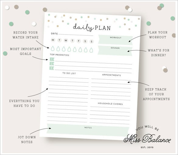 Family Schedule Template – 10+ Free Sample, Example Format