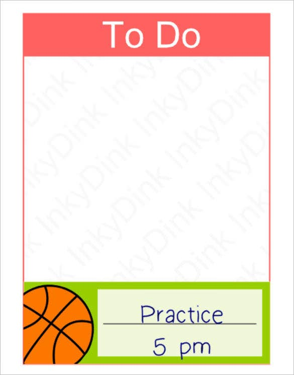 basketball schedule box plan template download sample