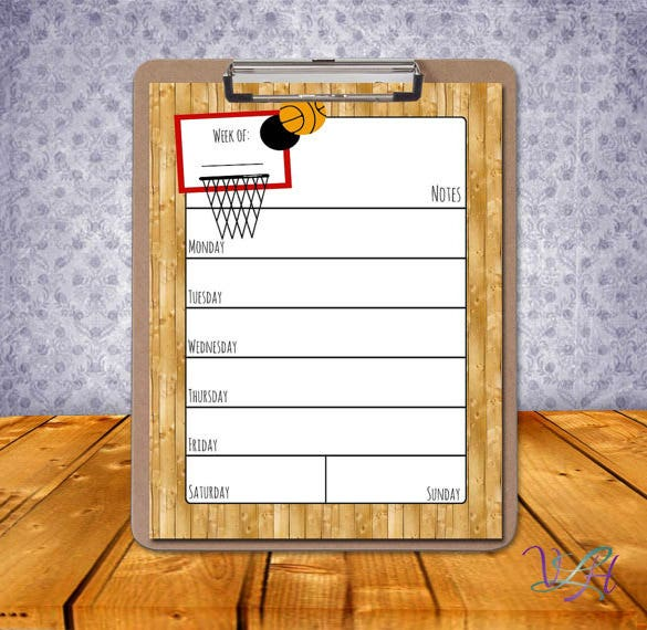 8+ Basketball Schedule Templates - DOC, PDF