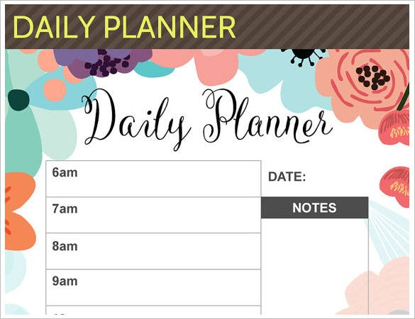 sample filofax personal media schedule template download