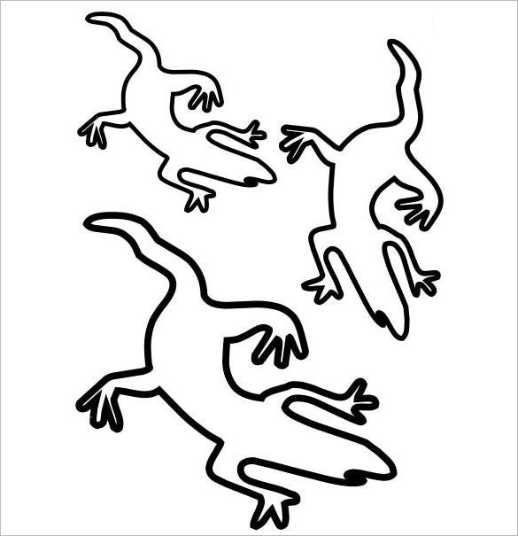 lizard coloring template
