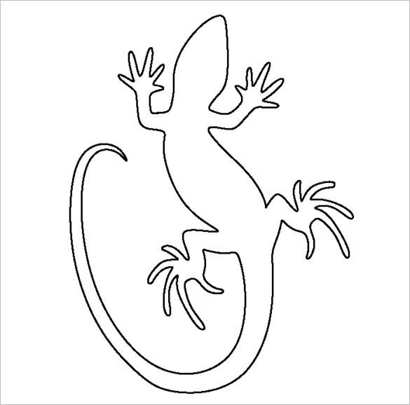 picture relating to Lizard Template Printable named 20+ Lizard Templates, Crafts amp; Colouring Internet pages Free of charge