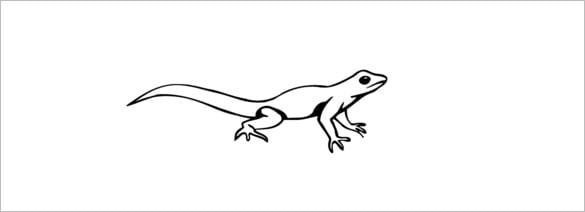 lizard printing template