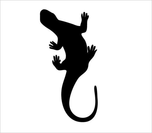 dark lizard printable template
