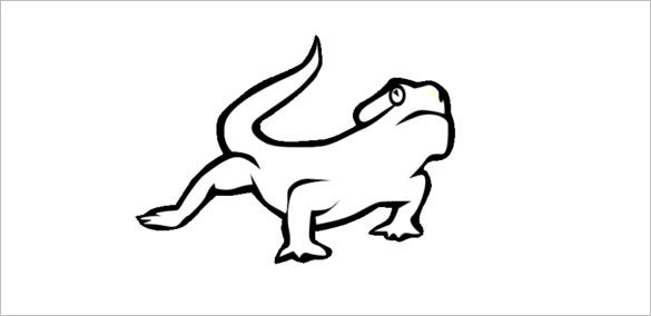 pretty lizard coloring template