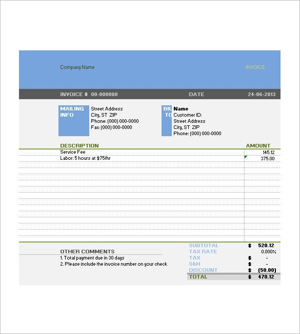 tax invoice templates – 10+ free word, excel, pdf format download, Invoice templates