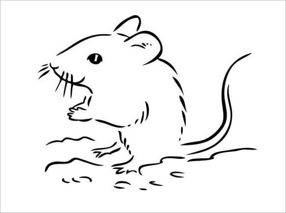 Мышонка пика раскраска
