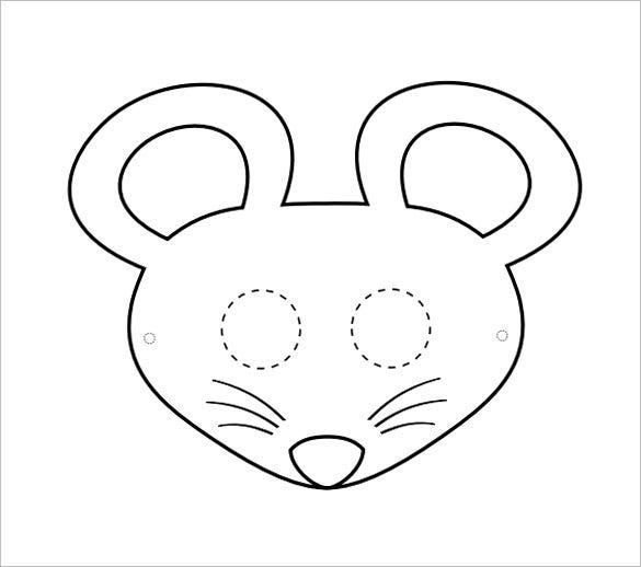Mouse Mask Coloring Template