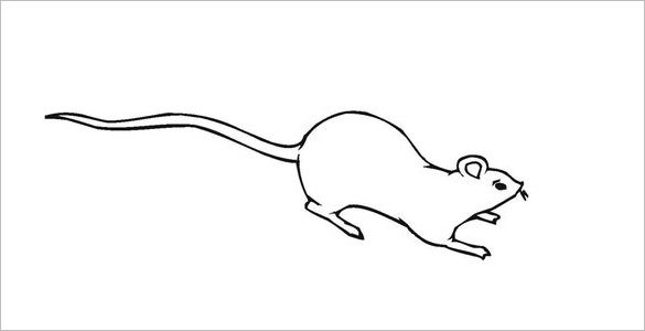 simple mouse coloring page template