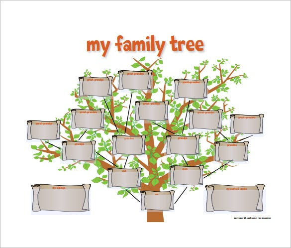 Family Tree Diagram Template – 9+ Free Sample, Example ... | 585 x 498 jpeg 87kB
