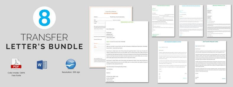 8 Transfer Letter Templates Bundle Download