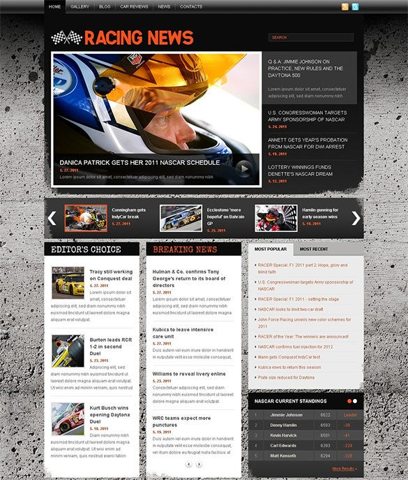 car racing joomla template for you