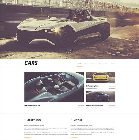 luxurious racing automobiles joomla template