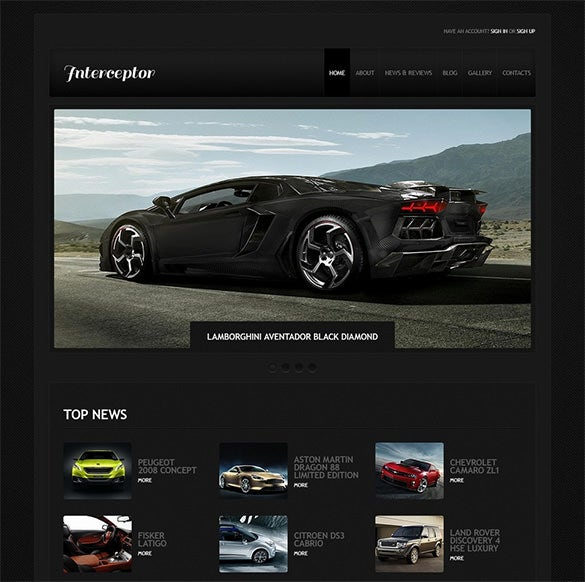 joomla template for car racing