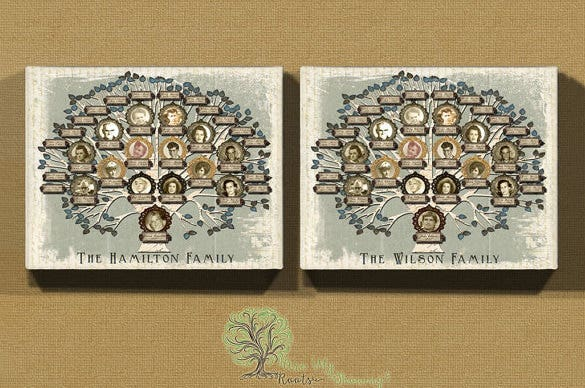 5 generation family tree sample template download