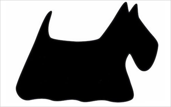 7 Scottie Dog Templates Crafts Colouring Pages Free