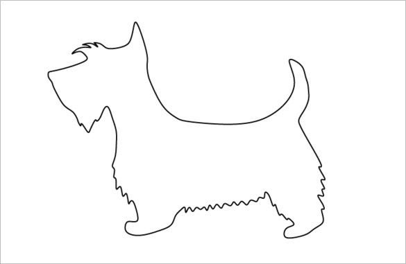 scottie dog pattern coloring template